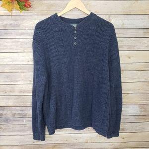 Oscar De La Renta Knitted Crewneck Sweater Large